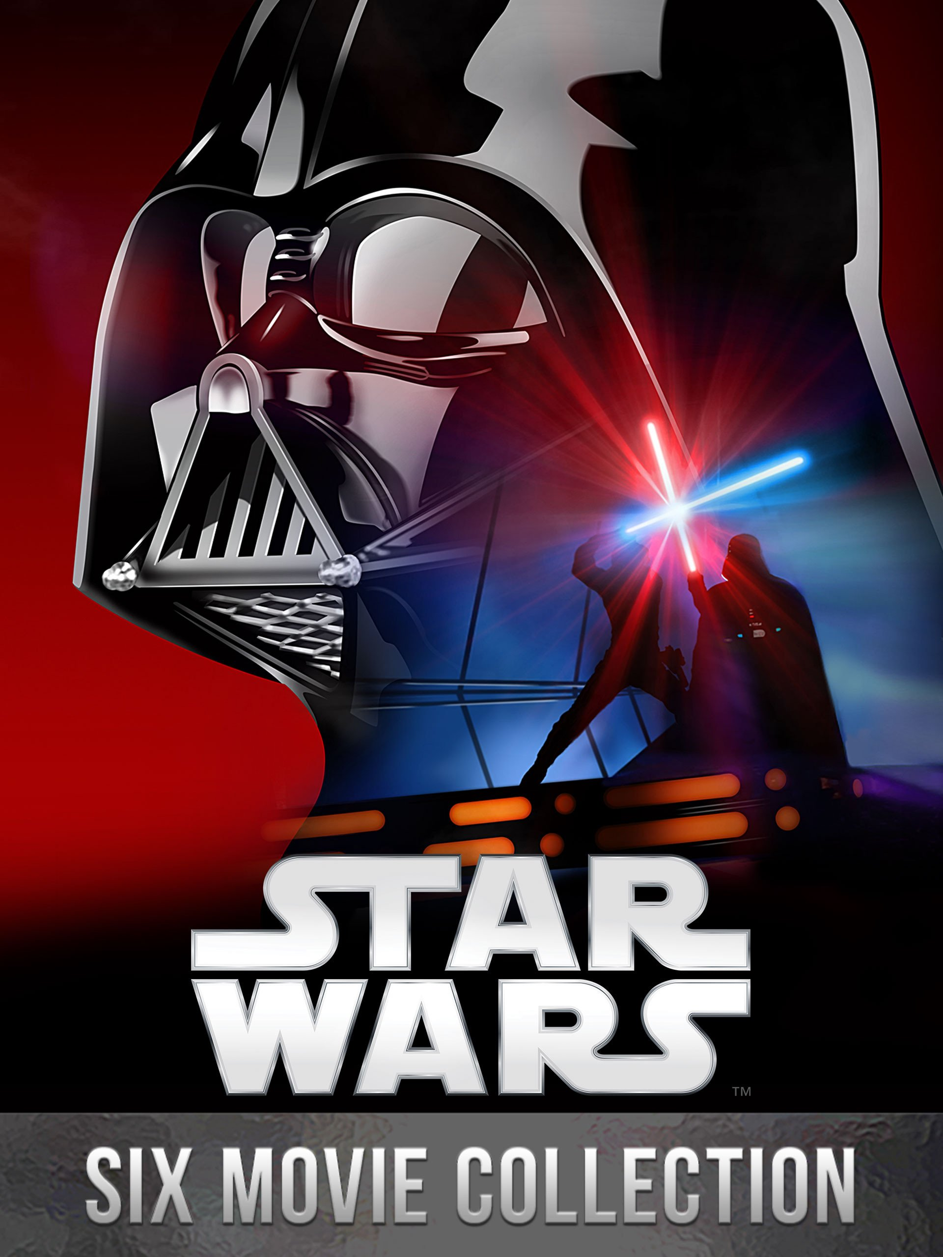 Star Wars The Digital Six film Collection by