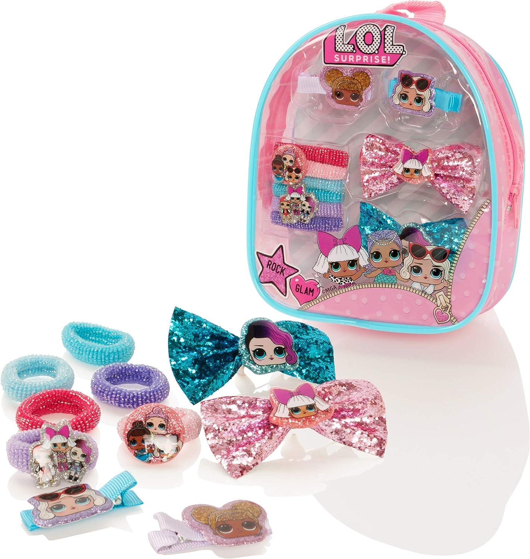 L.O.L Surprise Hair Beauty Set 11pcs Childrens Girls Pink Hair Brush Bracelet