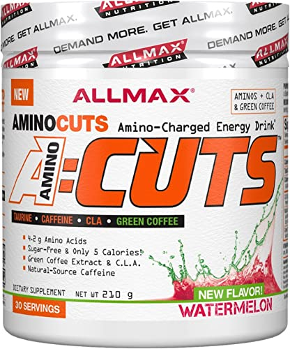 ALLMAX Nutrition A CUTS, Amino Charged Energy Drink, Watermelon, 210g