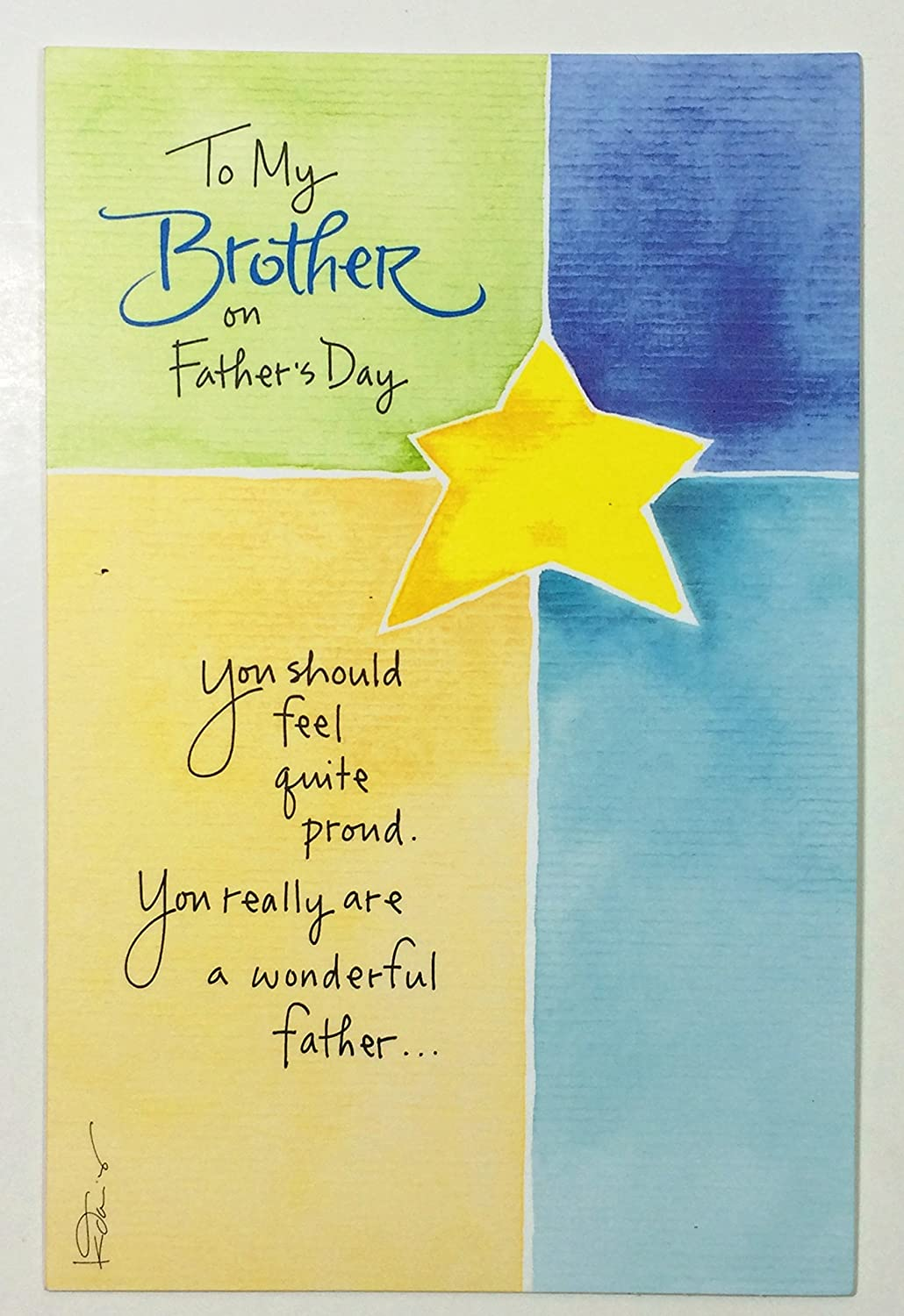Amazon Fathers Day Card For Brotherto My Brother On Fathers