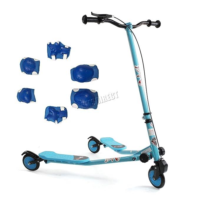 Amazon.com: KMS FoxHunter – Kids Azul Mini Tri patinete ...