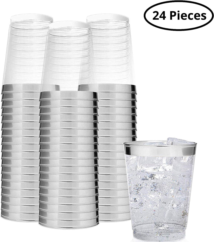 BELLE VOUS Vasos de Plástico - 24 Piezas Vasitos Plastico para ...