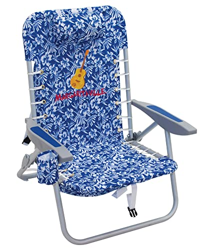 Sensational Margaritaville 4 Position Backpack Folding Beach Chair Blue Floral Gmtry Best Dining Table And Chair Ideas Images Gmtryco