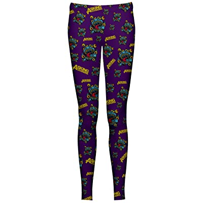 Asking Alexandria Eyeballs Leggings - Collants Sans Pieds (Violet)