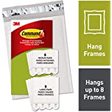 Command Medium & Large Picture Hanging Strips, White, 8 medium, 8 large pairs, Decorate Damage-Free (PH209-16NA)