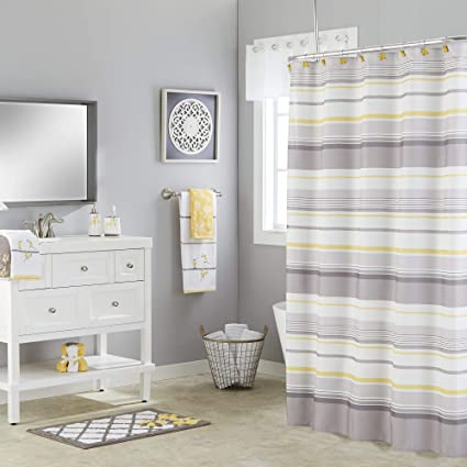 Image Unavailable Not Available For Color SKL Home Spring Garden Striped Shower Curtain Gray