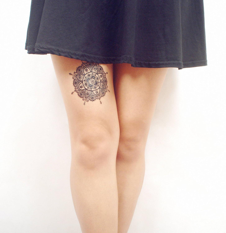 COKOHAPPY Negro Cordón Temporales Tatuaje Flecha Hoja Atrapasueños ...