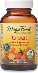 MegaFood, Complex C, Supports a Healthy Immune System, Antioxidant Vitamin C Supplement, Gluten Free, Vegan, 30 Tablets (30 Servings)