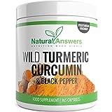 Turmeric Curcumin 365 Vegetarian Capsules (1 Year Supply) Wild Turmeric Capsules with Curcumin and Black Pepper One-A-Day Turmeric Supplement