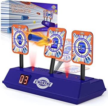 UWANTME Electric Target Scoring Auto Reset Shooting Digital Target for Nerf Guns