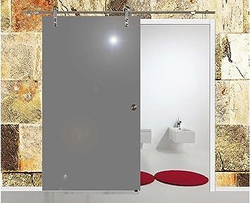 Correderas de cristal para puertas correderas de cristal puerta VSG 1025 x 2050 mm incluyendo gris Soft-auto de acero inoxidable para puerta corredera de herrajes BV1025GA: Amazon.es: Bricolaje y herramientas
