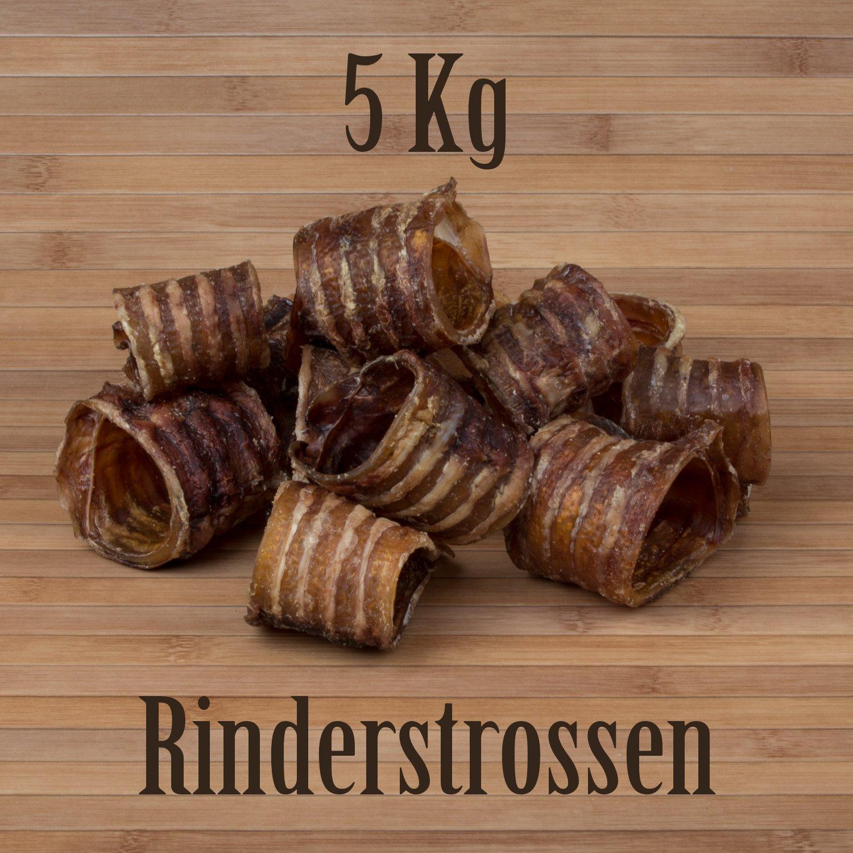 lingua italiana non garantita in confezione da 5/kg Snack secco per cani trachea di manzo//bovino