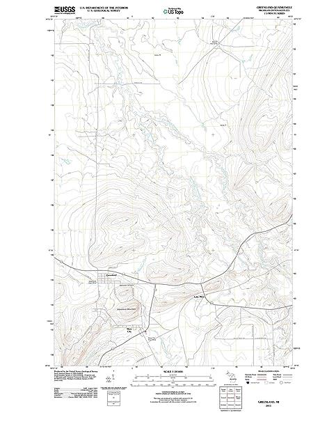 Amazon.com: Michigan Maps | 2011 Greenland, MI USGS Historical ...