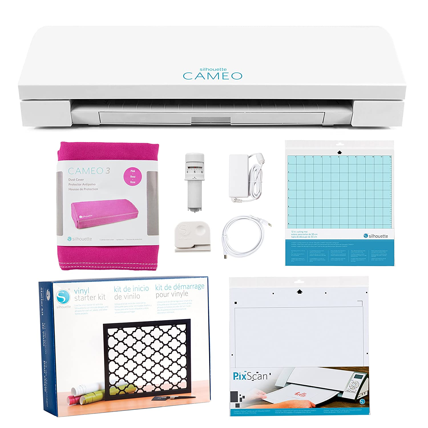 Silhouette Cameo 3 Deluxe Starter Bundle with Oracal 651 Sheets, Transfer Paper, Pixscan Mat, Guide, Class, and More! Silhouette America 4336979027