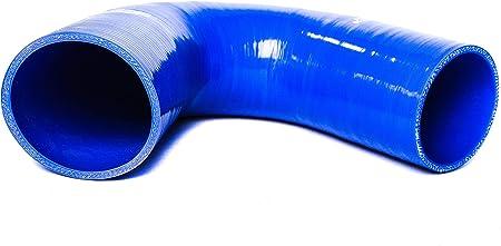90 Bogen Silikonschlauch Größe Wählbar Turbo Hose Verbinder Ladeluftschlauch Flexibel Universal Farbe Schwarz Innendurchmesser Ø 35 Mm Auto