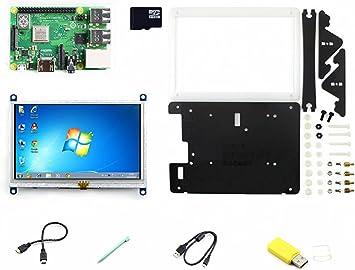 CQRobot Development Kit E of Raspberry Pi 3 Model B+, Includes: Raspberry Pi 3 Model B+, 5inch HDMI LCD (B), Bicolor Case, 16GB Micro SD Card, ect.: Amazon.es: Electrónica