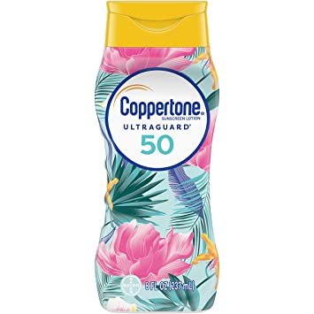 9d734ecc Amazon.com: Coppertone ULTRA GUARD Sunscreen Lotion Broad Spectrum SPF 50  (8 Fluid Ounce) (Packaging may vary): Beauty