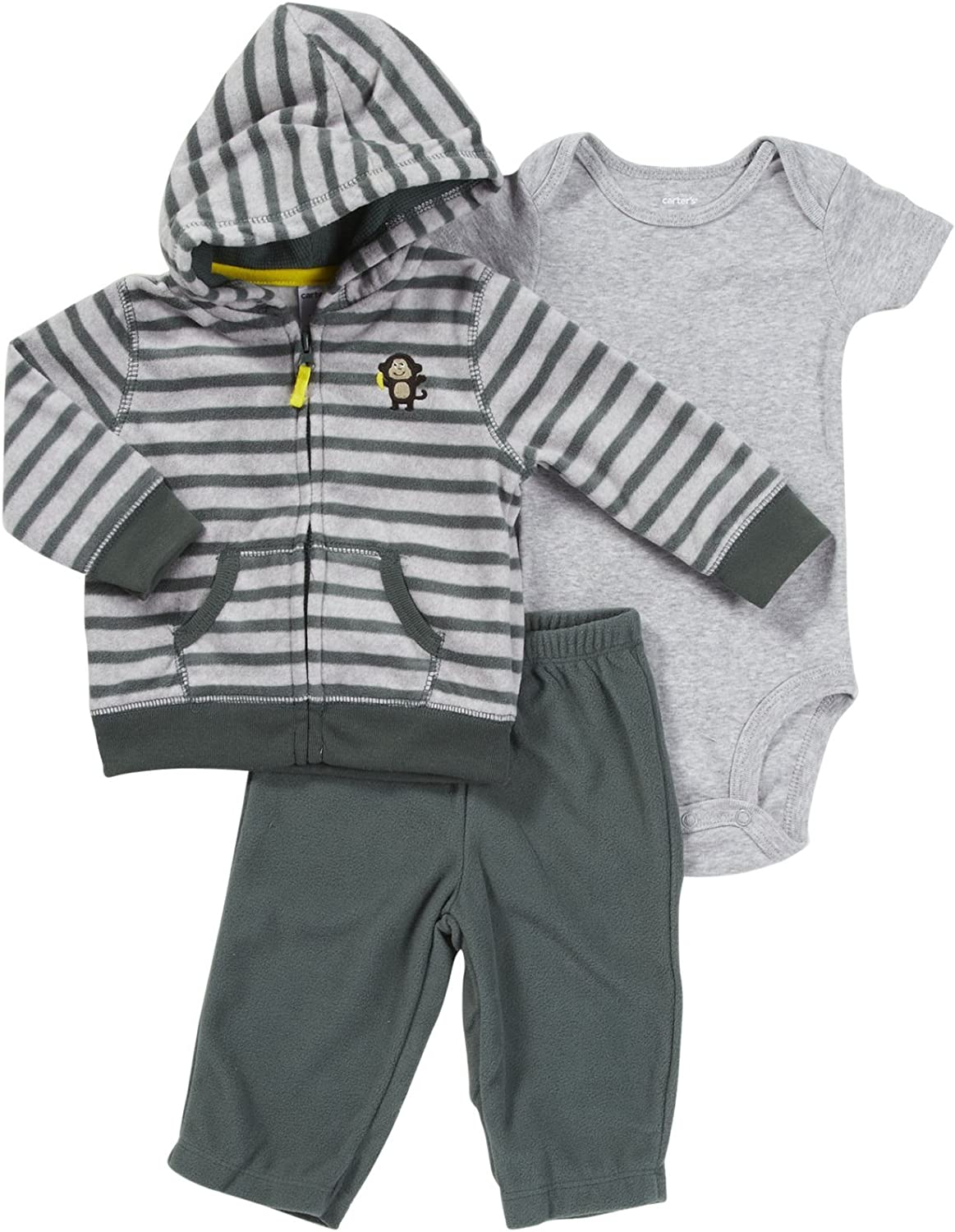 0-24 Monate Carters 3 teilig Jacke Body Hose Baby Junge Outfit Kleidung Boy 3 Teile Tiger