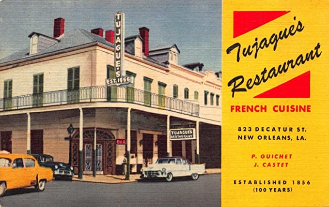 Amazon Com Linen Postcard Tujague S French Restaurant In