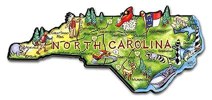 Amazon.com: ARTWOOD MAGNET - NORTH CAROLINA STATE MAP: Kitchen & Dining