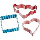 Wilton 3 Piece Hearts-A-Flutter Cookie Cutter Set