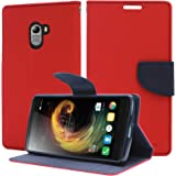 DMG Premium Drop Protection Wallet Case Flip Cover for Lenovo K4 Note (Black)