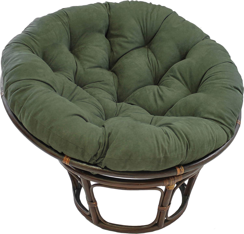 Blazing Needles Solid Microsuede Papasan Chair Cushion Sage Green 44 x 6 x 44