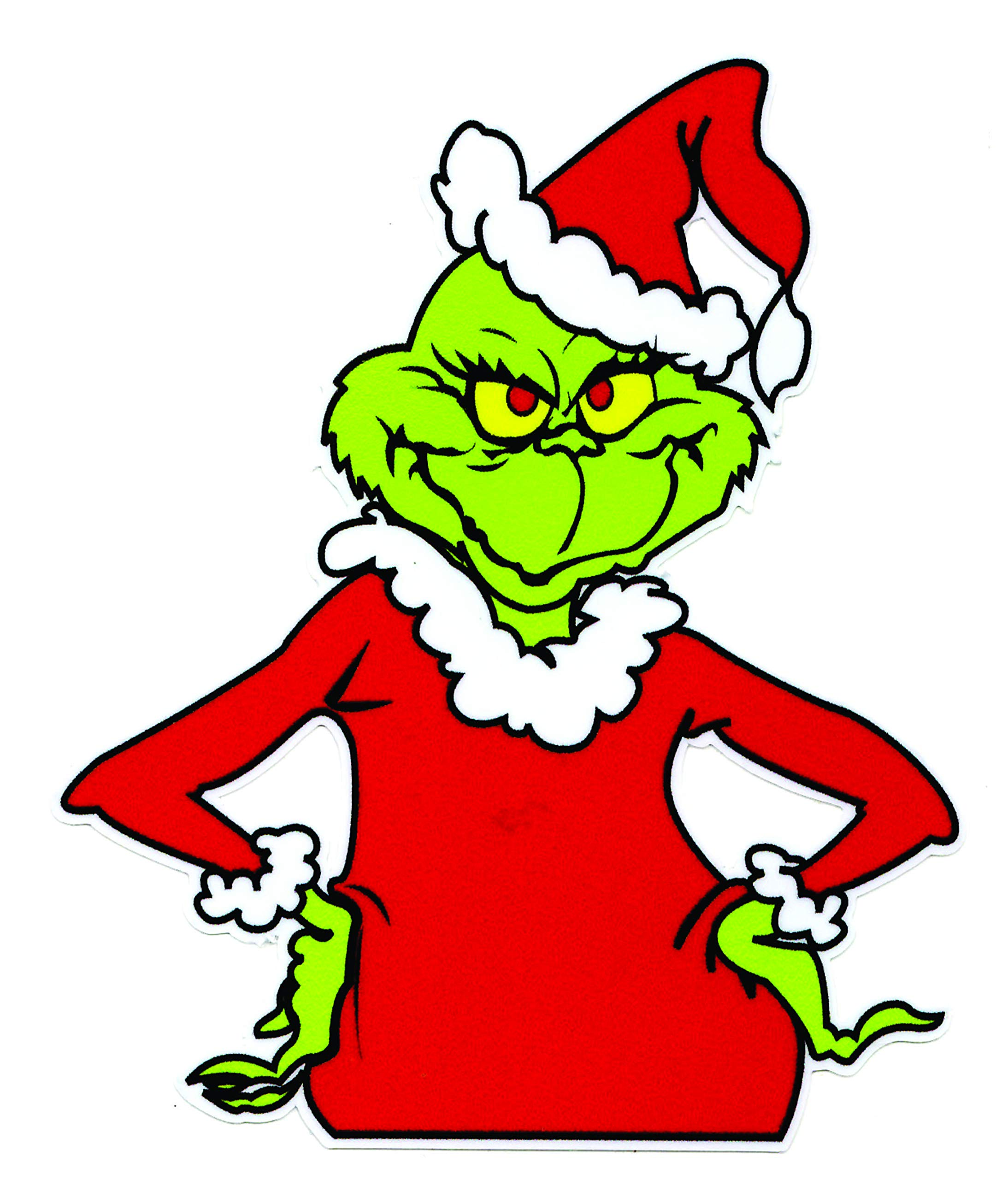 This is a picture of Lucrative Printable Grinch Face