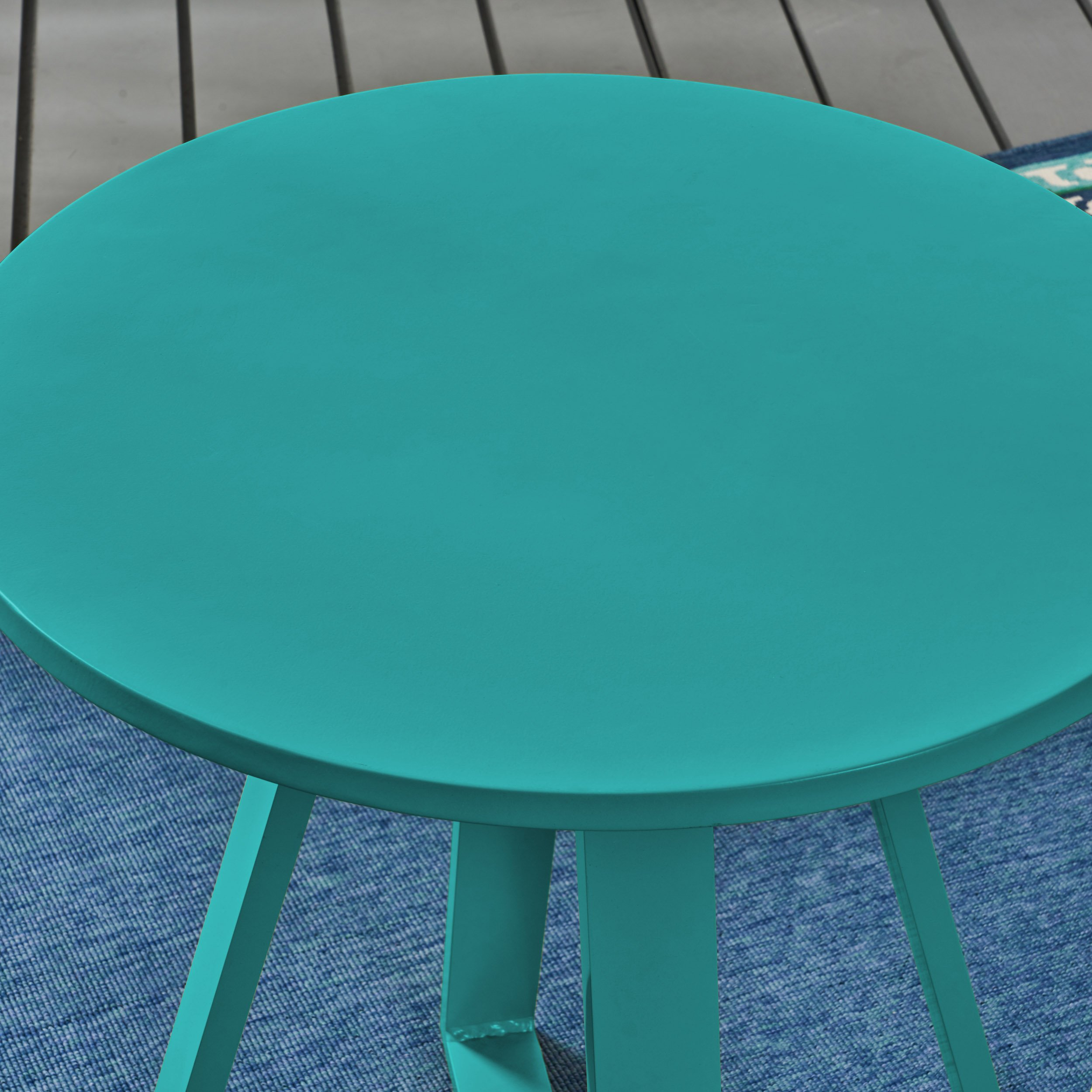 Great Deal Furniture Kate Outdoor Iron Bistro Set, Matte Teal by Great Deal Furniture (Image #5)