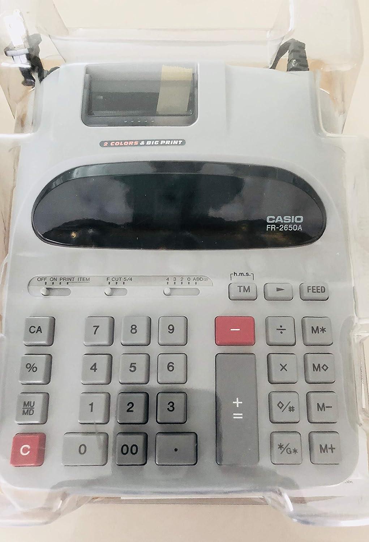 Casio Printing Calculator FR-2650A GY-W 2-Color Printing 12-Digit