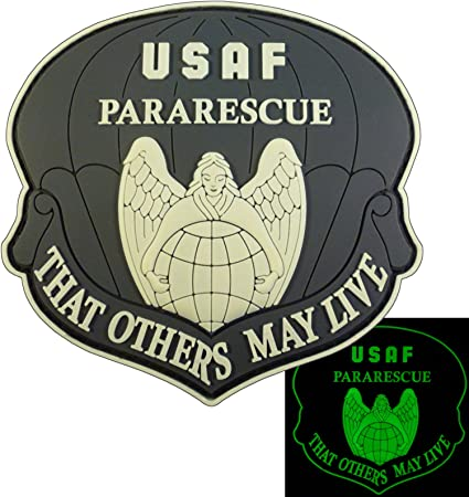 THAT OTHERS MAY LIVE USAF Pararescue PJ Morale PVC 3D Touch Fastener Patch