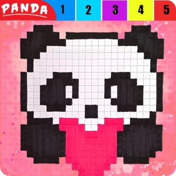 Amazoncom Panda 3d Pix Art Coloring By Pixel Book 2018 Draw