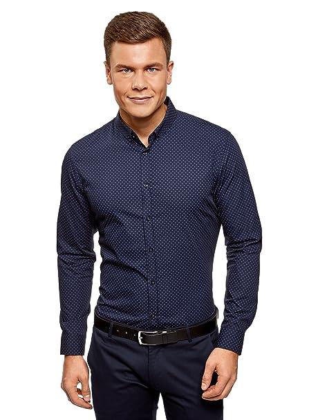 oodji Ultra Hombre Camisa a Cuadros de Algod/ón