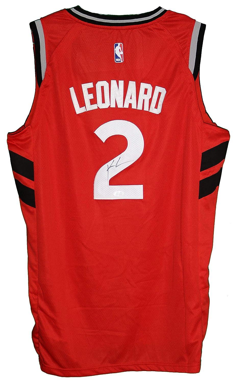 purchase cheap 90b04 361e1 Kawhi Leonard Toronto Raptors Signed Autographed Red #2 ...