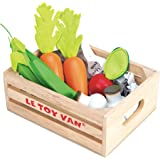 Le Toy Van Honeybake Collection Vegetables '5 A Day' Crate Set Premium Wooden Toys for Kids Ages 3 Years & Up