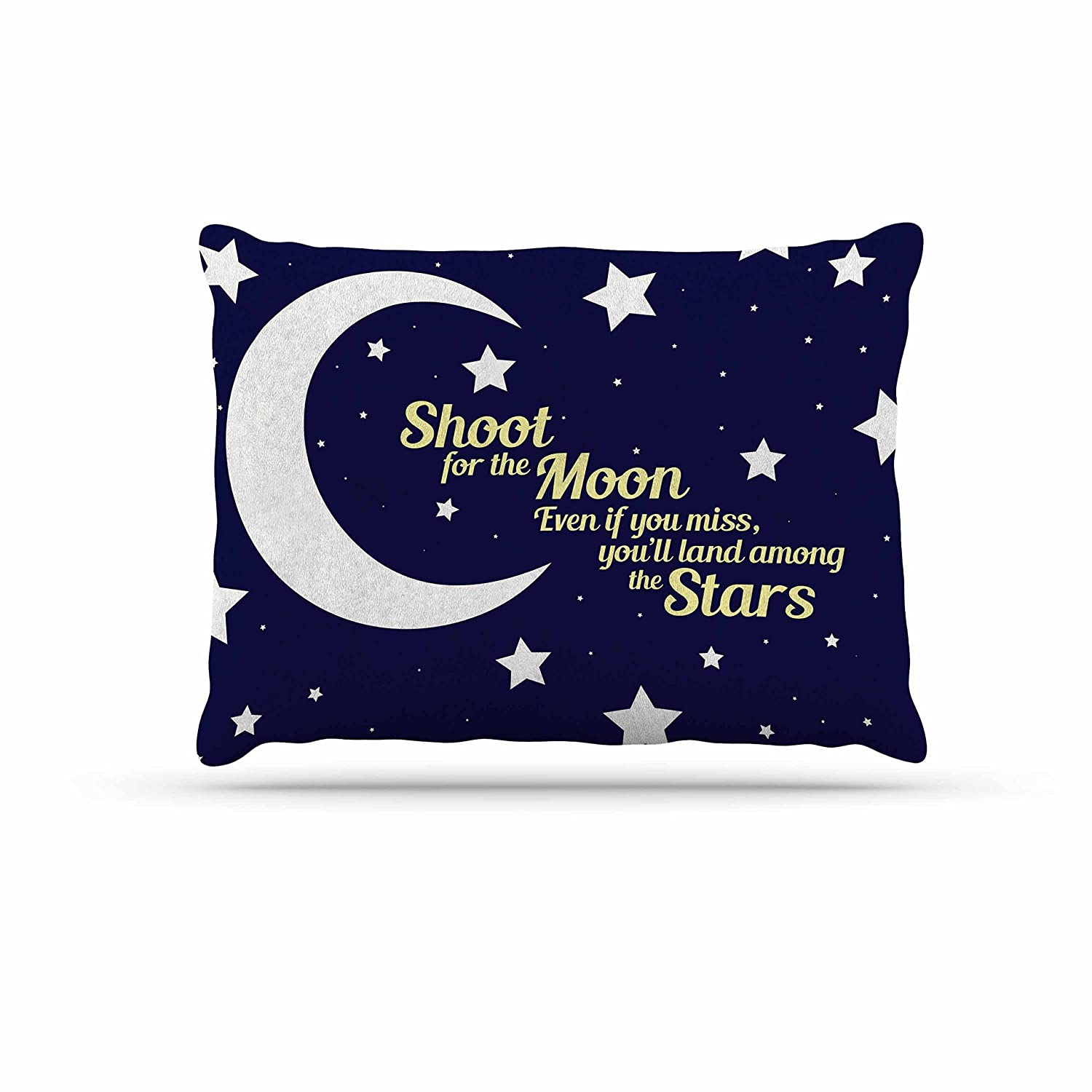 KESS InHouse NL Designs Moon & Stars Quote bluee White Dog Bed, 30  x 40