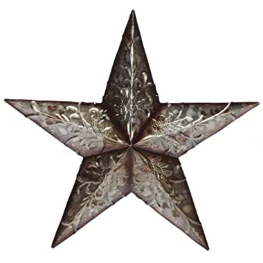 Hosley 16  High Metal Star Wall Large Decor, Country Style Rustic. Ideal Gift for Wedding, Party, House Warming, Home Office. IDBPP00P1 O9