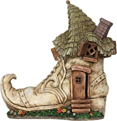 Miniature Fairy Garden Solar Old Lady Shoe House