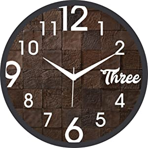 Brown Wall Clock by KK Craft