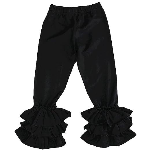 77bc85b2224d0 Maggy May Girls Ruffle Pants Girls Leggings with Ruffle Bottoms Black Grey  Pink