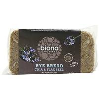 Biona Organic Rye, Chia and Flaxseed Bread 500g (Pack of 6)