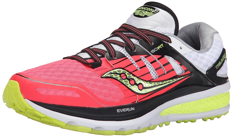 Saucony Women's Triumph ISO 2 Running Shoe B00YBDBLO6 6 B(M) US|Coral/Silver