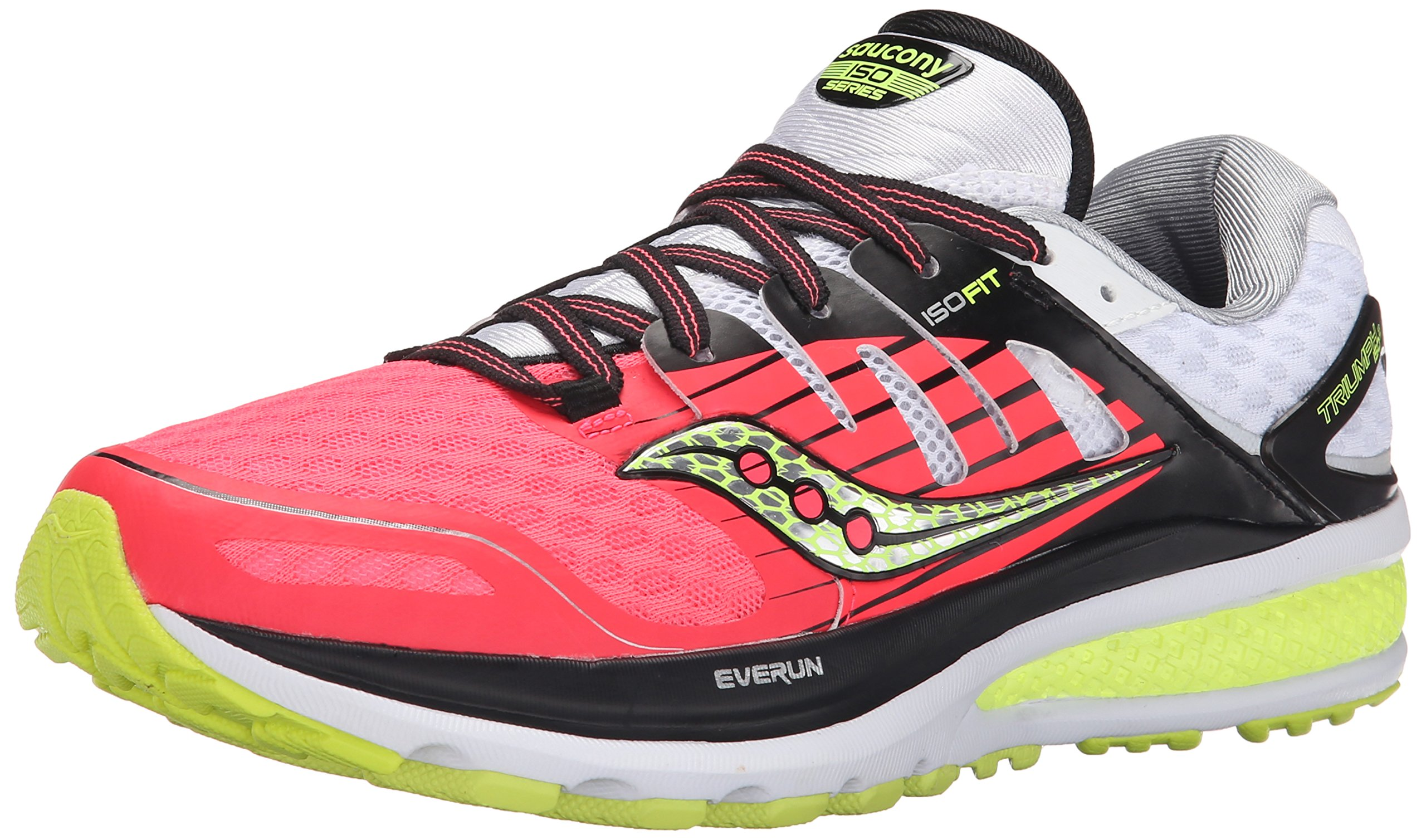 Saucony Women's Triumph ISO 2 Running Shoe, Coral/Silver, 9.5 M US