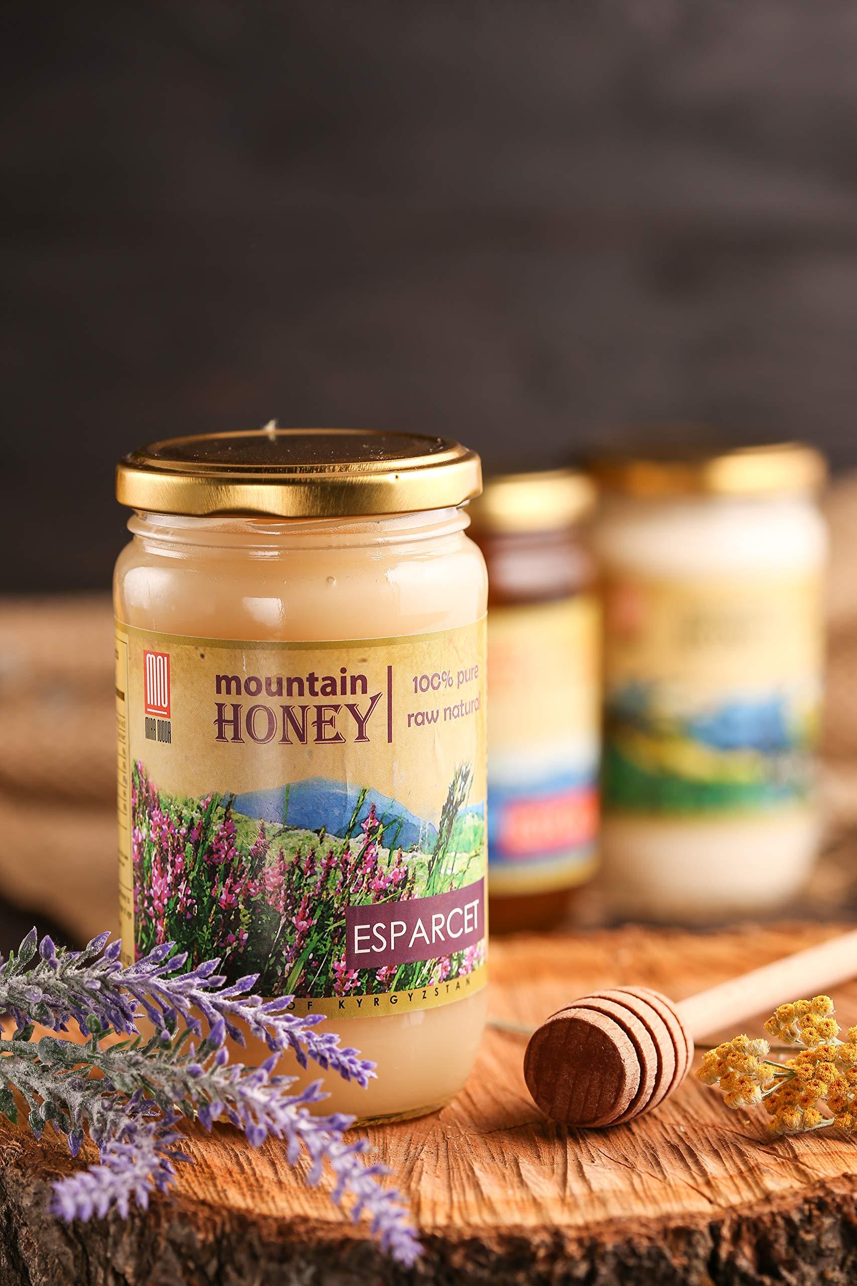Kyrgyz Honey; Esparcet Raw Natural Sainfoin Mountain Honey; 17.63 Ounce Glass Jar by Mira Nova (Image #2)