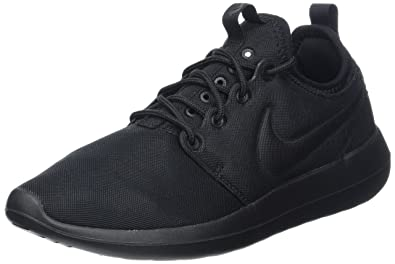 Cheap Nike Roshe Two Leather PRM Black / black white gum med