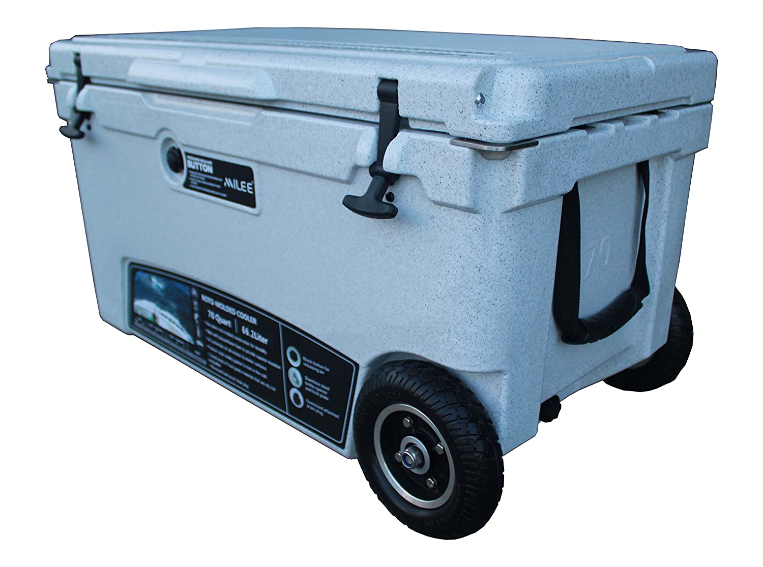 MILEE--Heavy duty Wheeled Cooler 70QT ($50 accessories Included ) Divider ,Basket and Cup holder are free