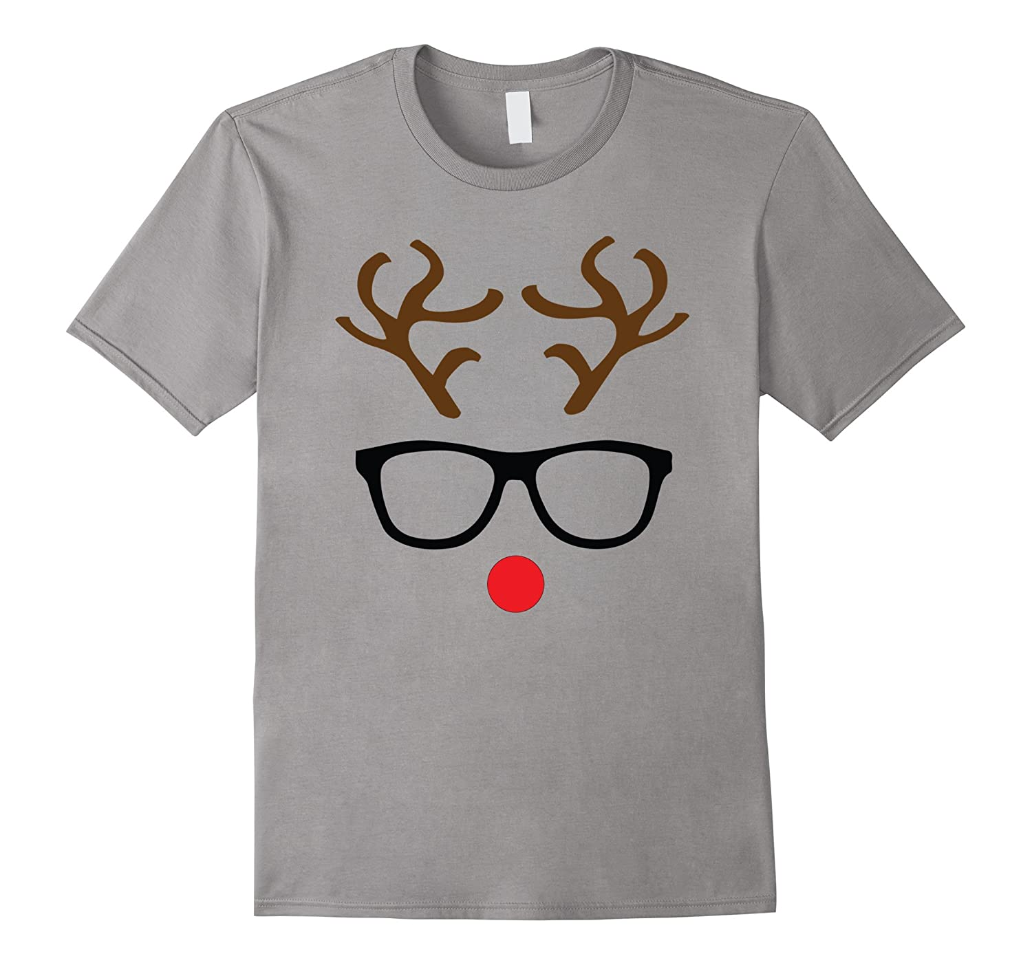 Rudolph Red Nose Reindeer Nerd Christmas Tshirt-CL