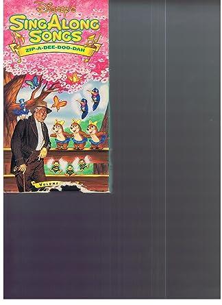 Amazon com: Disney's Sing Along Songs Zip-a-dee-doo-dah - Volume Two
