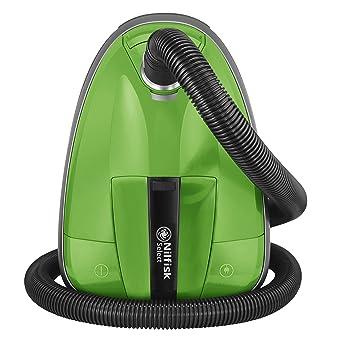 Nilfisk 128350600 Aspirador trineo, 220-230V, con bolsa, 450 W, 2.7 litros, 75 Decibelios, Plástico, Green
