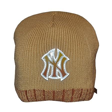 ec8bc672014 New Era NY Yankees Brown Beanie hat (BH2637)  Amazon.co.uk  Kitchen   Home